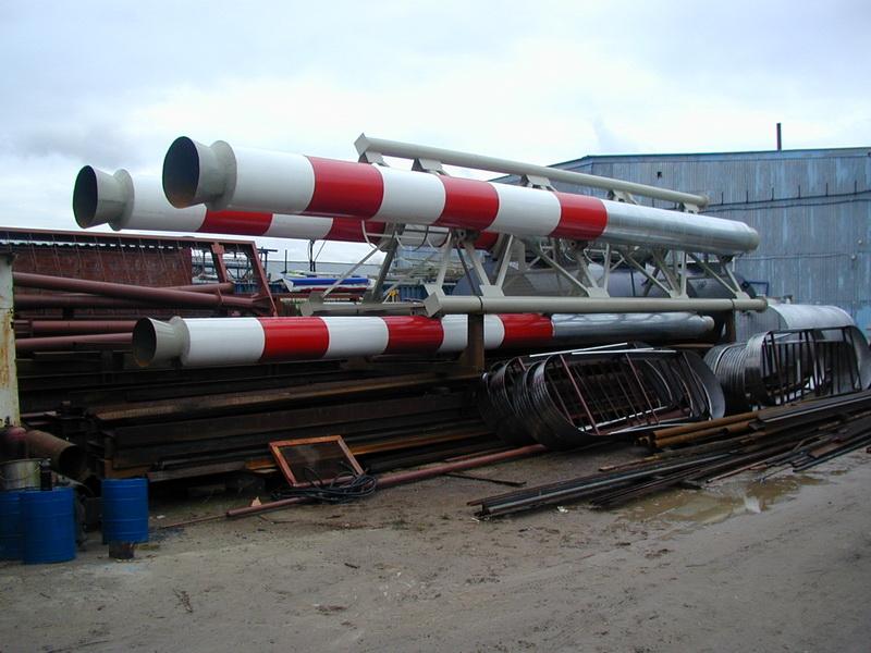 Фотографии Дымовая труба с несущей конструкцией